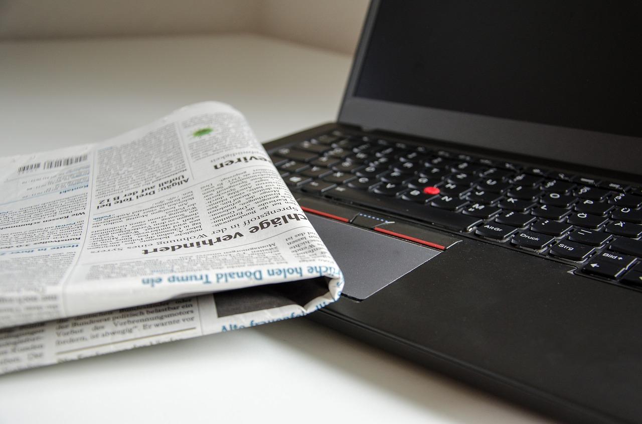 新聞とノート