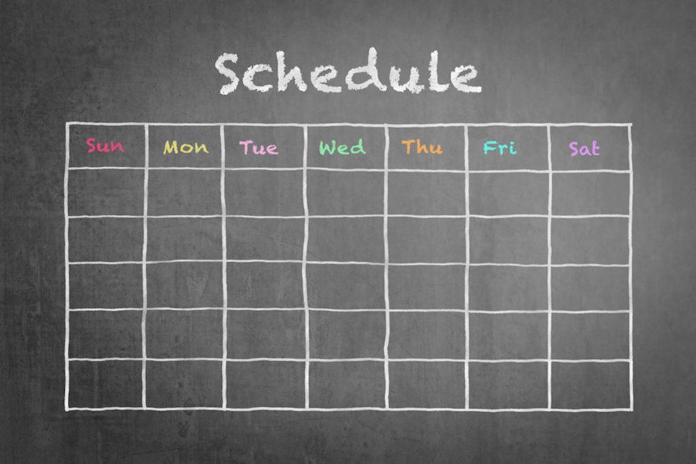 勉強計画のスケジュール