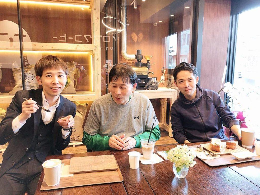 柏村先生、武田先生、村田先生 シロフクでカフェ